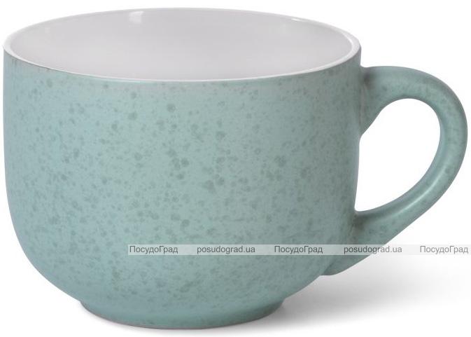 Кружка керамічна Fissman Silis-86 450мл, бірюзовий/білий