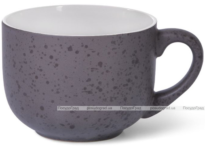 Кружка керамическая Fissman Silis-88 450мл, фиолетовый/белый