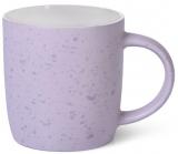 Кружка керамическая Fissman Mairenn-89 330мл, сиреневый/белый