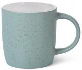 Кружка керамічна Fissman Mairenn-90 330мл, бірюзовий/білий