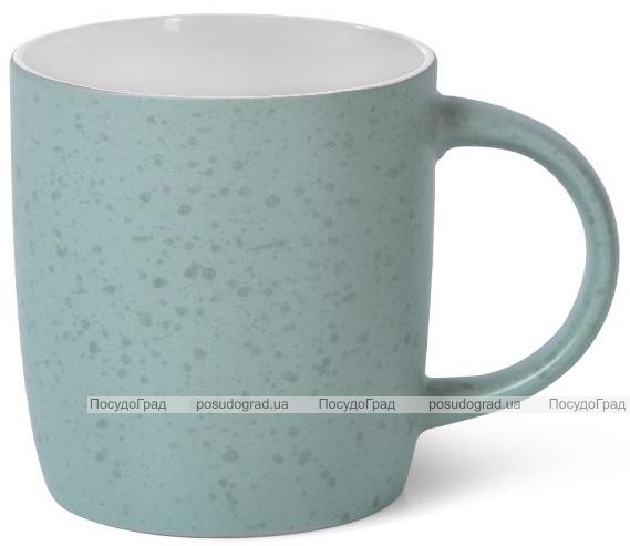 Кружка керамическая Fissman Mairenn-90 330мл, бирюзовый/белый
