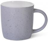 Кружка керамічна Fissman Mairenn-91 330мл, сіра/білий