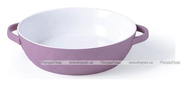 Форма для запекания Fissman Margaret керамическая, Ø23см, сиреневая