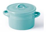 Каструлька порцелянова Fissman Margaret Ø10х6см з кришкою, блакитна
