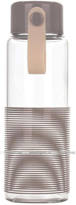 Бутылка спортивная Fissman Sport Line 360мл, стеклянная, коричневая
