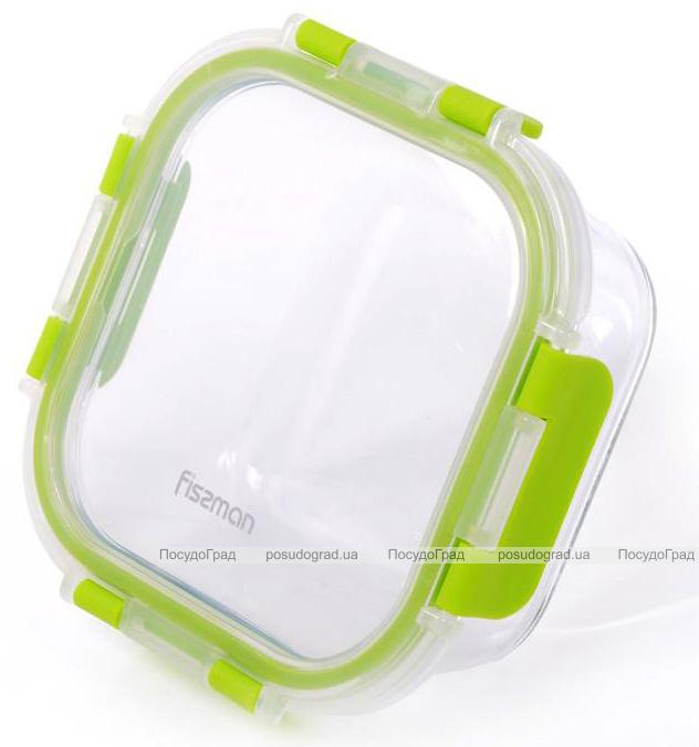 Контейнер для продуктов Fissman Purity 470мл стеклянный, 14х14х6см квадратный