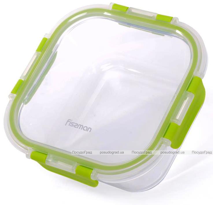 Контейнер для продуктов Fissman Purity 760мл стеклянный, 16х16х7см квадратный