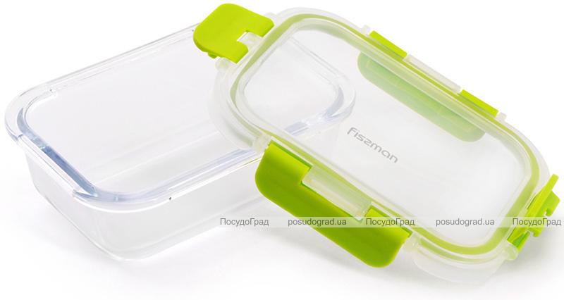 Контейнер для продуктів Fissman Purity 380мл скляний, 15.5х11.5х5.5см