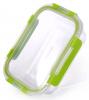 Контейнер для продуктів Fissman Purity 600мл скляний, 18х13х5.5см