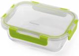 Контейнер для продуктов Fissman Purity 600мл стеклянный, 18х13х5.5см