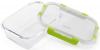 Контейнер для продуктів Fissman Purity 800мл скляний, 20х15х6.5см