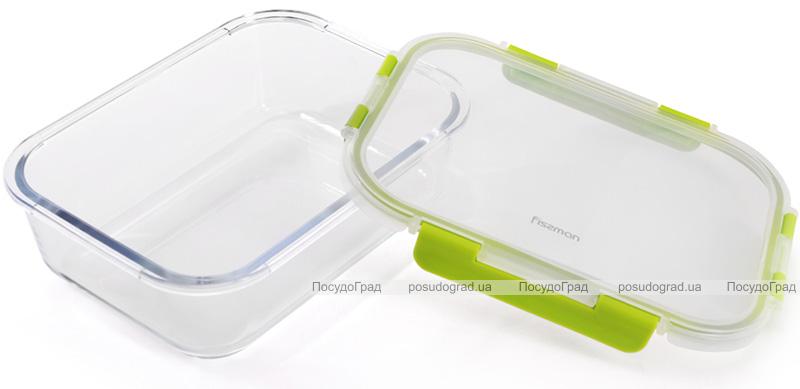Контейнер для продуктів Fissman Purity 1440мл скляний, 23.5х17.5х7.5см