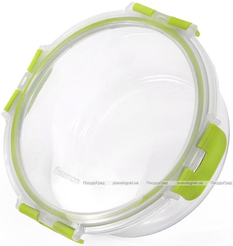 Контейнер для продуктів Fissman Purity 950мл скляний, 18x7см круглий