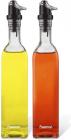 Набор 2 стеклянные бутылки Fissman Clear для масла и уксуса 2х500мл, крышка с дозатором