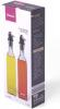 Набір 2 скляні пляшки Fissman Clear для масла і оцту 2х500мл, кришка з дозатором