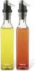Набор 2 стеклянные бутылки Fissman Clear для масла и уксуса 2х250мл, крышка с дозатором