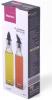 Набор 2 стеклянные бутылки Fissman Grey для масла и уксуса 2х250мл, крышка с дозатором