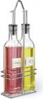 Набор 2 стеклянные бутылки Fissman для масла и уксуса 2х250мл на металлической подставке