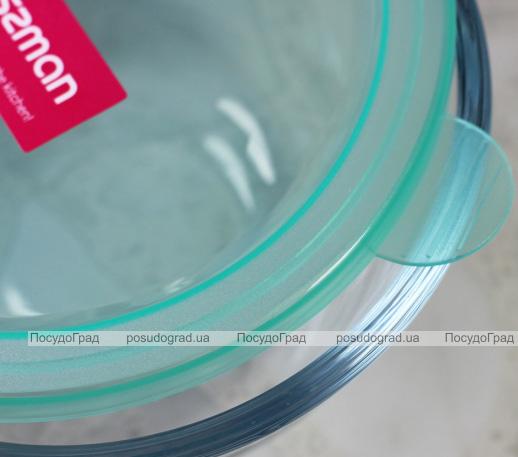 Миска Fisman Palenque стеклянная 800мл с крышкой, Ø15х8см
