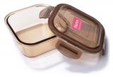 Контейнер для продуктів Fisman Luxor 800мл скляний, 15х15х6см