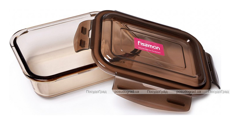 Контейнер для продуктов Fisman Luxor 640мл стеклянный, 17х12х5см