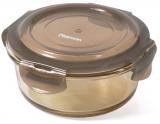 Контейнер для продуктов Fissman Luxor 400мл стеклянный, 14х7.5см круглый