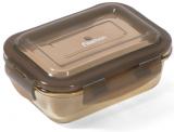 Контейнер для продуктов Fissman Luxor 370мл стеклянный, 14.5x10.5x6см