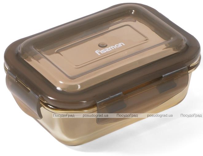 Контейнер для продуктів Fissman Luxor 370мл скляний, 14.5x10.5x6см