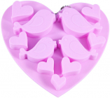 Форма силиконовая для льда и конфет Fissman Влюбленные Птички, 15х14.5см