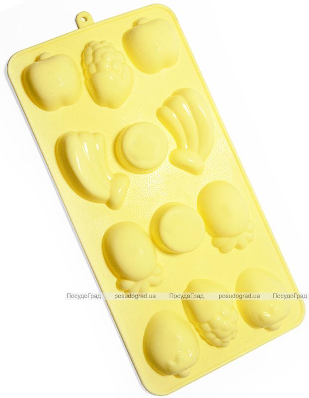 Форма силіконова для льоду і цукерок Fissman Фрукти, 21х11см