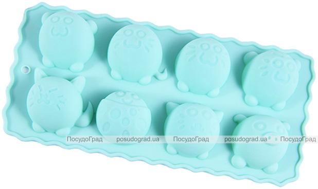 Форма силиконовая для льда и конфет Fissman Круглые Зверята 22х10.5см