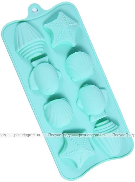 Форма силіконова для льоду і цукерок Fissman Дари Моря 18х10см