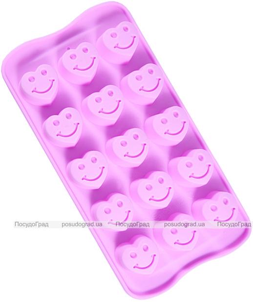 Форма силиконовая для льда и конфет Fissman Веселые Сердечки, 21х10.5см