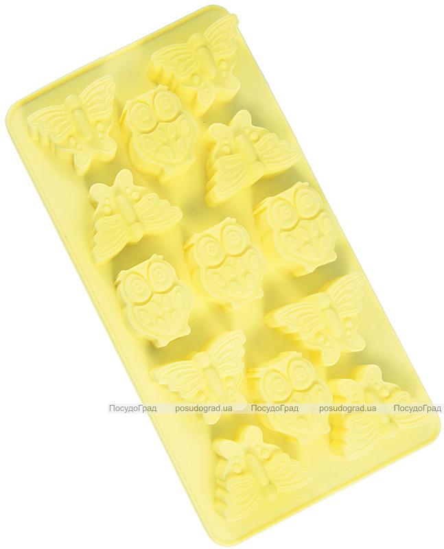 """Форма силиконовая для льда и конфет Fissman """"Бабочки и Совята"""", 21х11.6см"""