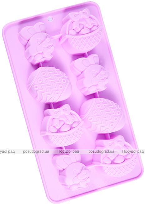 Форма силіконова для льоду і цукерок Fissman Великодній Кролик 20.8х10.8см