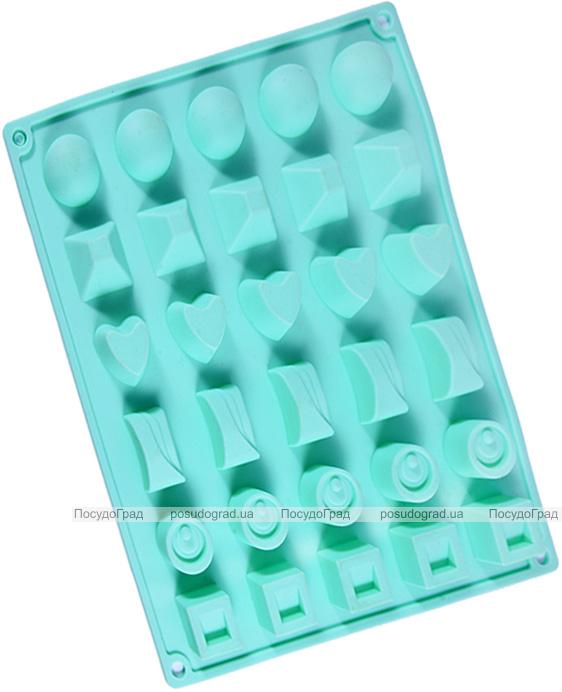 Форма силіконова для льоду і цукерок Fissman Асорті 27х23.5см