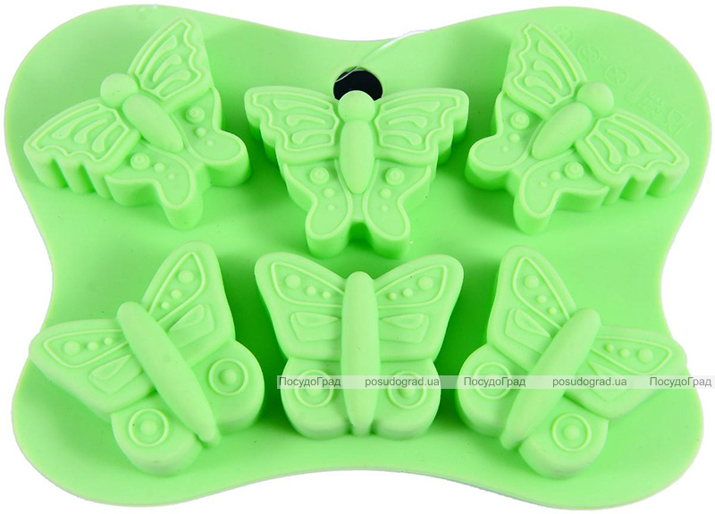 Форма силіконова для льоду і цукерок Fissman Метелики 14х10.5см