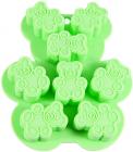 Форма силиконовая для льда и конфет Fissman Медвежата 13х11см