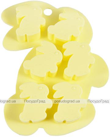 Форма силіконова для льоду і цукерок Fissman Зайчата 15х11см