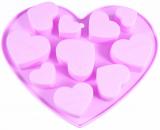 """Форма для льоду і цукерок Fissman """"The Hearts"""" силіконова 17.8х14см, 9 осередків"""