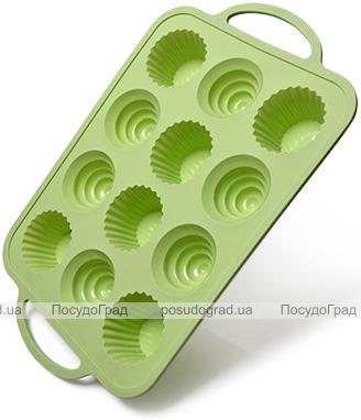 Форма для випічки кексів Fissman Wave силіконова 37х23.5см, 12 осередків