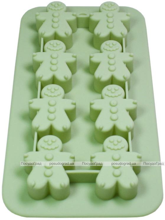 Форма для выпечки Fissman Человечки силиконовая 20х11см, 8 ячеек