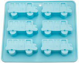 Форма для выпечки Fissman Голубой Автобус силиконовая 22х20см, 6 ячеек