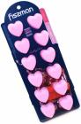 Форма силиконовая для льда и конфет Fissman Сердечки 22х9см