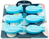 Форма для выпечки Fissman Голубой Самолетик силиконовая 22х20см, 6 ячеек