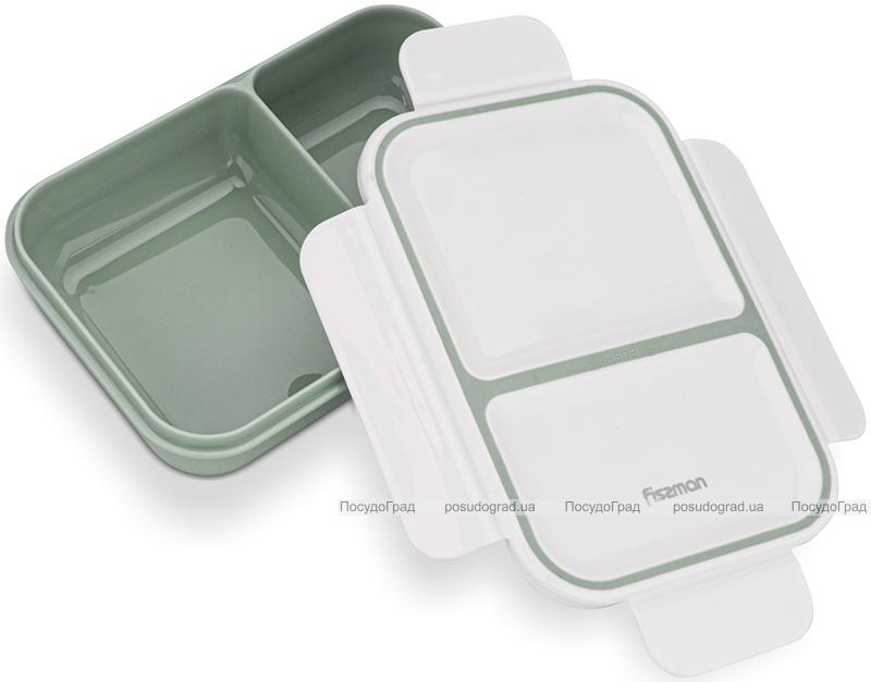 Ланч-бокс Fissman Milly на 2 секції 800мл, 20х14х5см пластик, зелений