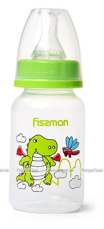 """Бутылочка детская для кормления Fissman Babies """"Дракоша"""" 120мл, зеленая"""