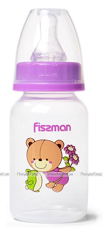 """Бутылочка детская для кормления Fissman Babies """"Мишка-любимчик"""" 120мл"""
