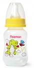 """Бутылочка детская для кормления Fissman Babies """"Дракоша"""" 125мл, желтая"""