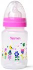 """Пляшка дитяча для годування Fissman Babies """"Квіткова галявина"""" 240мл з широкою шийкою"""